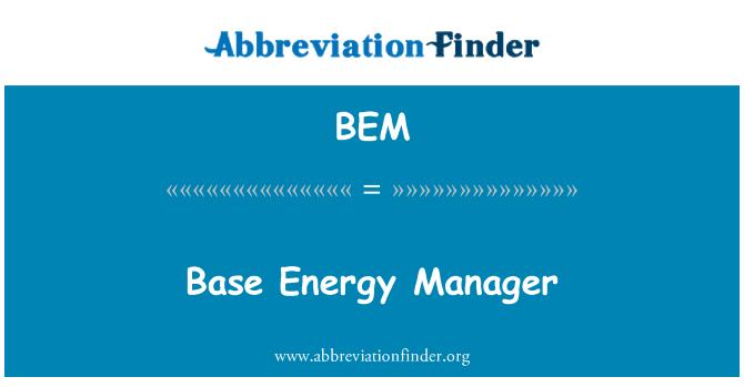 BEM: Base Energy Manager