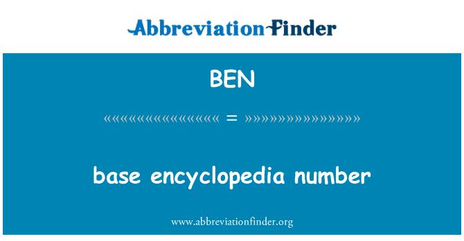 BEN: base encyclopedia number