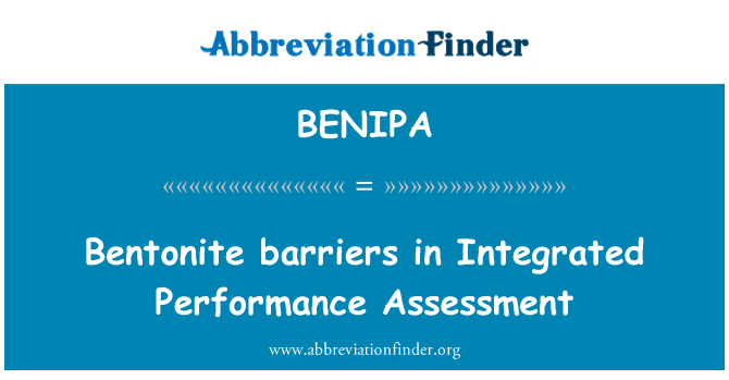 BENIPA: Bentonite barriers in Integrated Performance Assessment