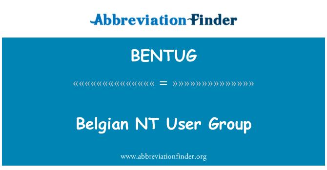 BENTUG: Belgian NT User Group