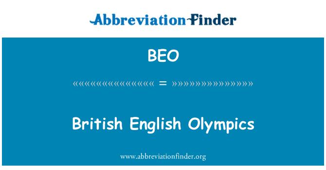 BEO: British English Olympics