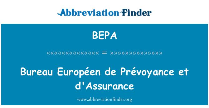 BEPA: Bureau Européen de Prévoyance et d'Assurance