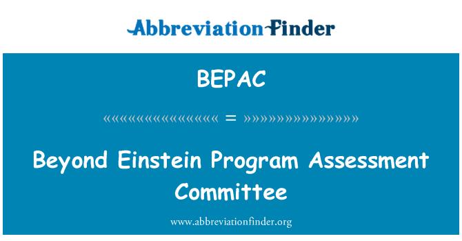 BEPAC: Beyond Einstein Program Assessment Committee