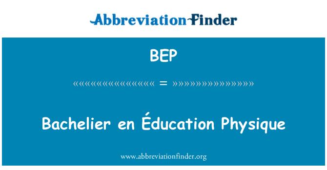 BEP: Bachelier en Éducation Physique