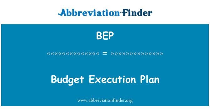 BEP: Budget Execution Plan