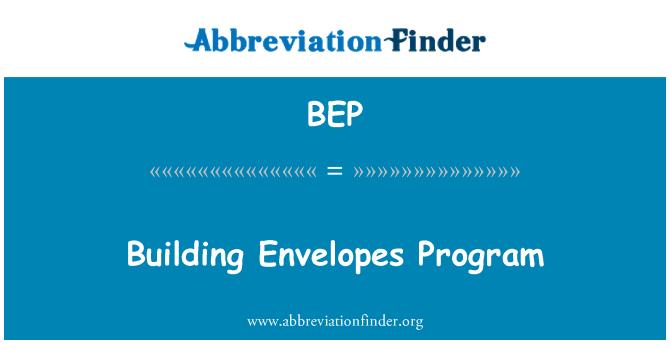 BEP: Building Envelopes Program