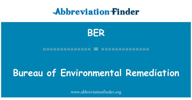 BER: Bureau of Environmental Remediation