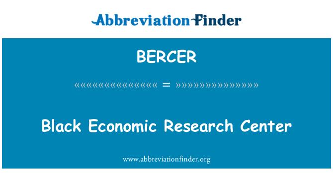 BERCER: Siyah Ekonomik Araştırmalar Merkezi