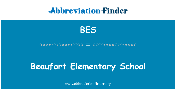 BES: Beaufort Elementary School