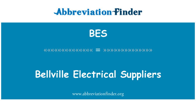 BES: Bellville Electrical Suppliers