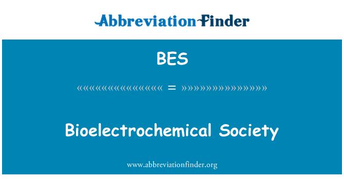 BES: Bioelectrochemical Society