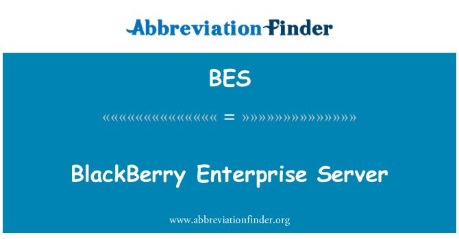 BES: BlackBerry Enterprise Server