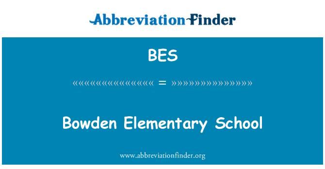 BES: Bowden Elementary School