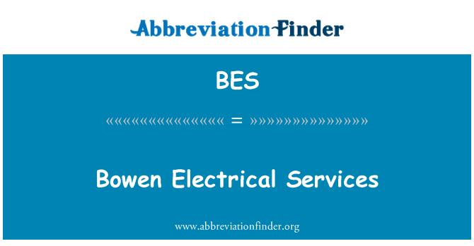 BES: Bowen Electrical Services