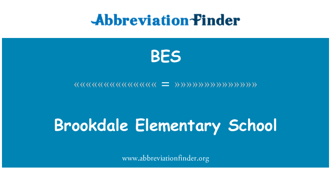BES: Brookdale Elementary School