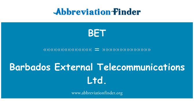 BET: Barbados External Telecommunications Ltd.