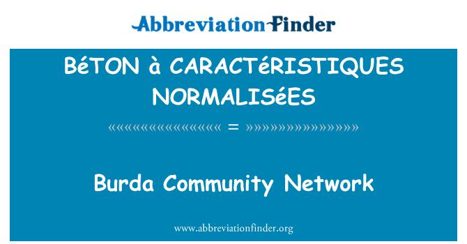 BéTON à CARACTéRISTIQUES NORMALISéES: Burda 社区网络