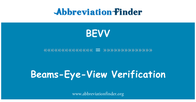 BEVV: Beams-Eye-View Verification