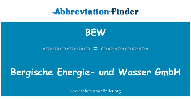 BEW: Bergische Energie- und Wasser GmbH