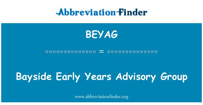 BEYAG: Bayside Early Years Advisory Group