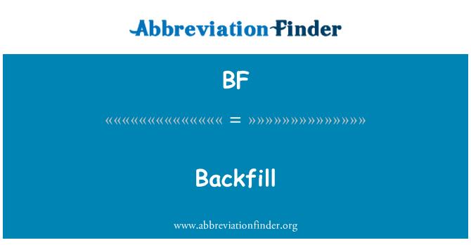 BF: Backfill
