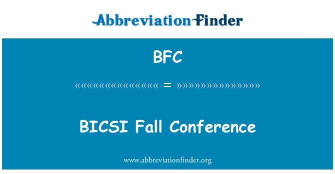 BFC: BICSI Fall Conference
