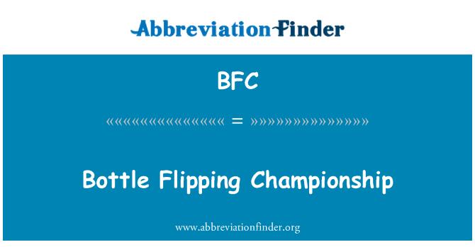 BFC: Bottle Flipping Championship
