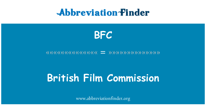 BFC: British Film Commission