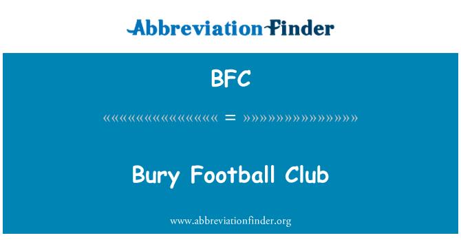 BFC: Bury Football Club