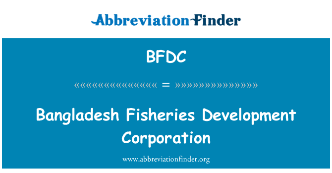 BFDC: Bangladeshi kalanduse Development Corporation