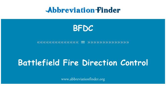 BFDC: Lahinguväljal tulejuhtimise suunas