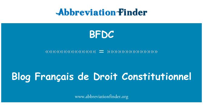 BFDC: Blog Français de Droit Constitutionnel