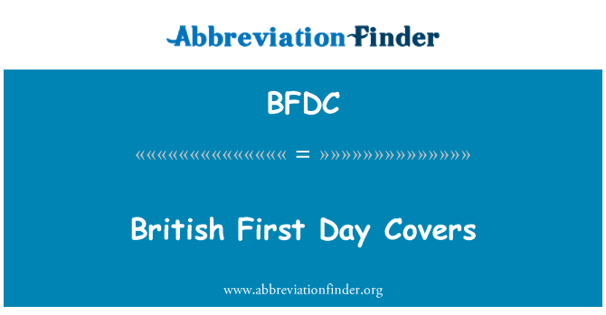 BFDC: İngiliz ilk gün kapaklar