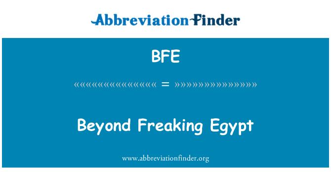BFE: Beyond Freaking Egypt