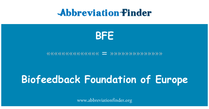 BFE: Biofeedback Foundation of Europe