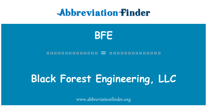 BFE: Black Forest Engineering, LLC