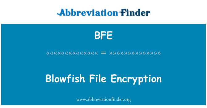 BFE: Blowfish File Encryption