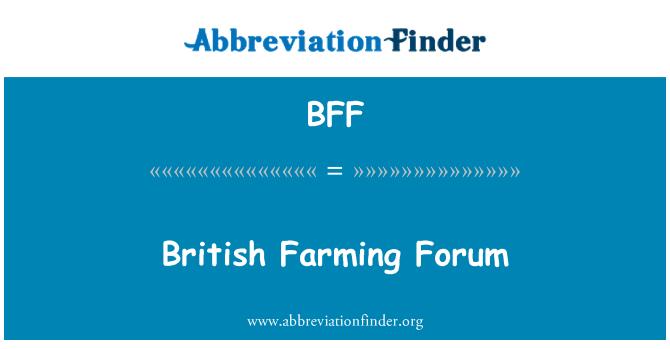 BFF: British Farming Forum