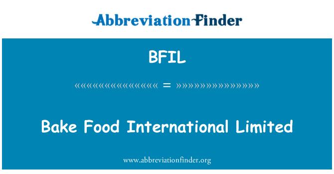 BFIL: Bake Food International Limited