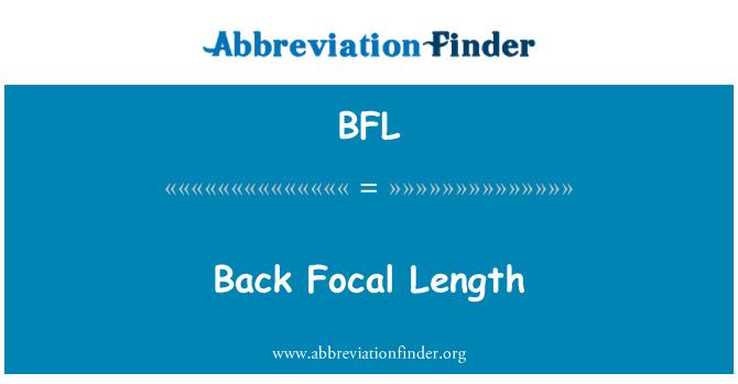 BFL: Back Focal Length