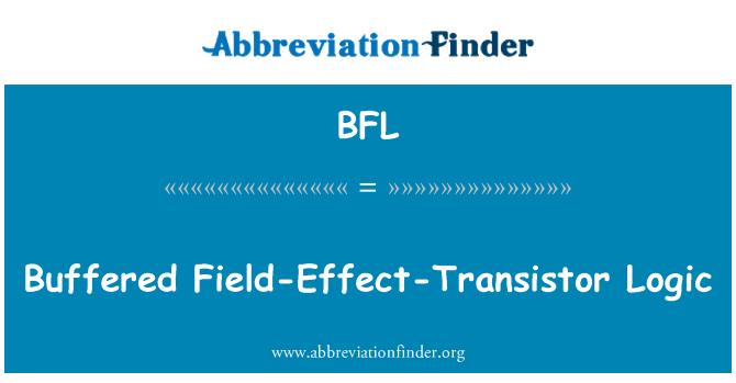 BFL: Buffered Field-Effect-Transistor Logic
