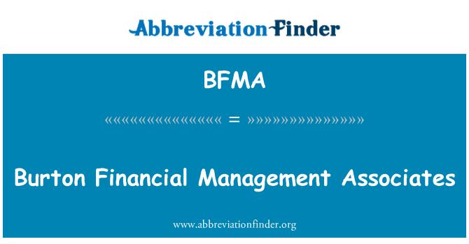 BFMA: Burton Financial Management Associates
