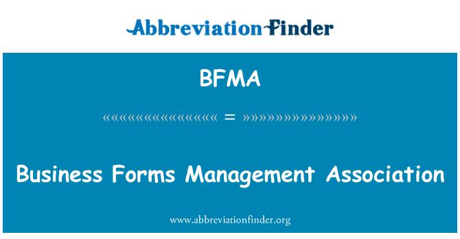 BFMA: Asociación de gestión de formularios comerciales
