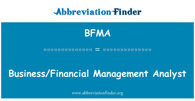 BFMA: Analista de negocios/gestión financiera