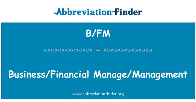 B/FM: Poslovni/upravljanje/upravljanje financijama