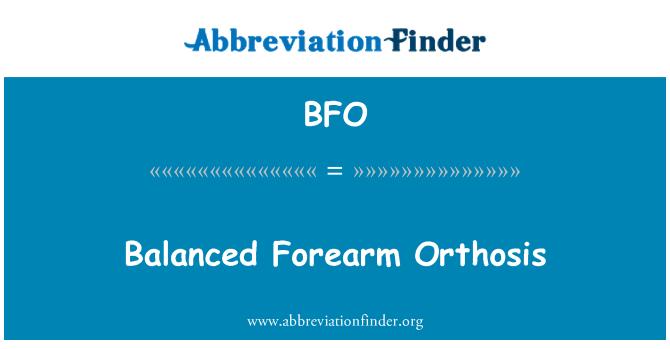 BFO: Balanced Forearm Orthosis