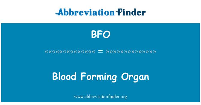 BFO: Blood Forming Organ