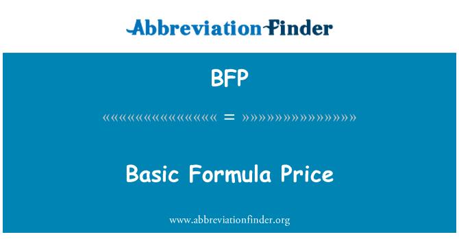 BFP: Basic Formula Price