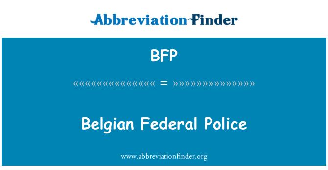 BFP: Belgian Federal Police