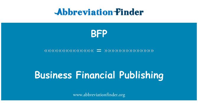 BFP: Business Financial Publishing